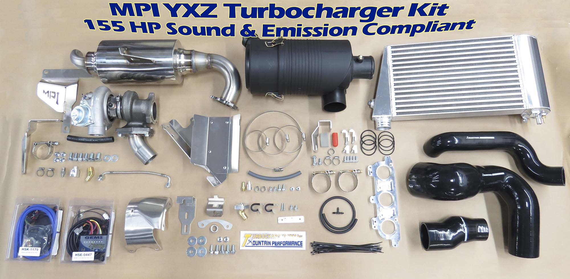 Yxz 155hp or 200hp turbocharger kit complete for Yamaha yxz1000r turbo